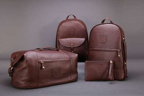 Compact Leather Travel Bags - The Voyager Leather Luggage Line Ensures Efficiency During Travel