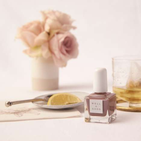 Non-Toxic Festive Nail Polishes - Well+Good and tenoverten Collaborated on 'Low-Sugar Plum Fairy'
