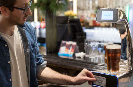 Self-Serve Beer Pumps - Henry's Cafe Bar is Testing a 'Pay @ Pump' Contactless Payment System