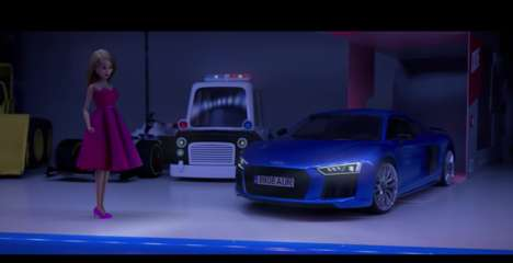 "Equality-Promoting Car Ads - This Audi Car Ad Targets Girls Who Want to Play with ""Toys for Boys"""