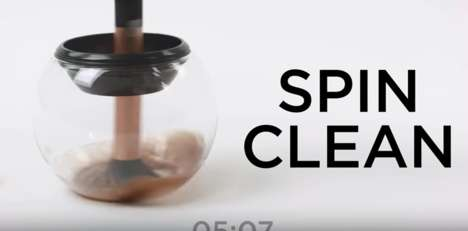 Makeup Brush Spinners - The 'StylPro Makeup Brush Cleaner & Dryer' Spins Bristles to Sanitize