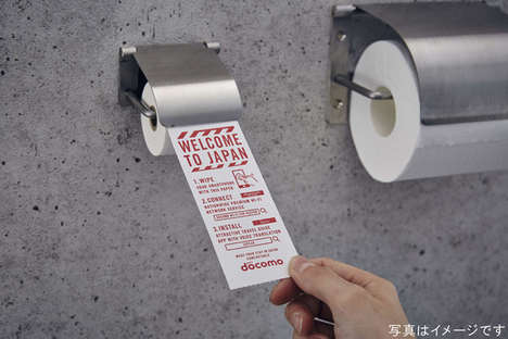 Smartphone-Cleansing Tissue Rolls - Japan's Narita Airport Has Toilet Paper Rolls to Clean Phones