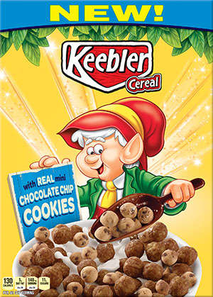 Mini Cookie Cereals - Kellogg's is Now Making Keebler Cereal with Chocolate Chip Cookies