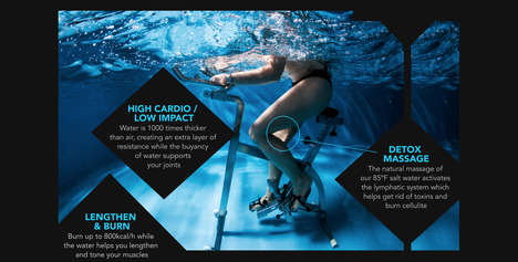 Underwater Cycling Classes - Aquacycling is a High-Cardio, Low-Impact Workout in Water