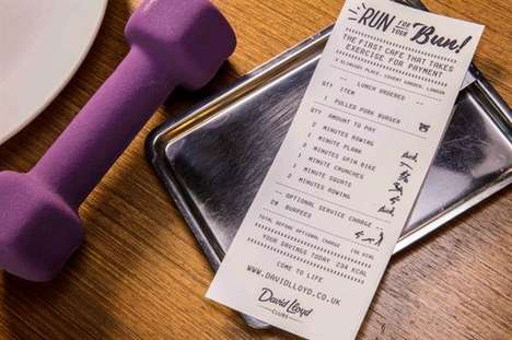 Fitness-Focused Cafe Payments - Diners at David Lloyd Clubs' 'Run For Your Bun' Pay with Exercise