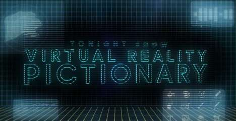 VR Drawing Games - 'Virtual Reality Pictionary' is a New Tonight Show Segment with Jimmy Fallon