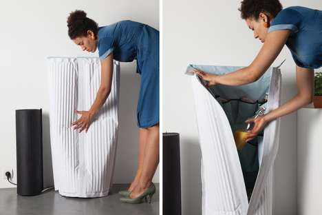 Efficient Expandable Refrigerators - The 'FRIGID AIR' Compact Fridge Can be Augmented in Size