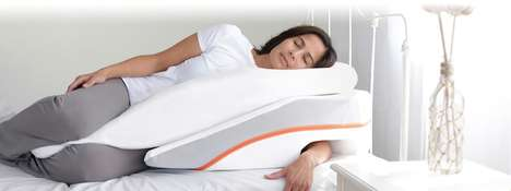 Elevated Ergonomic Sleep Pillows - The 'MedCline' Sleep Positioning Wedge Ensures All-Night Comfort