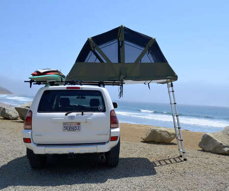 Vehicle Roof Rack Tents - The Tapui Baja Series Roof Tent Keeps Campers High and Dry