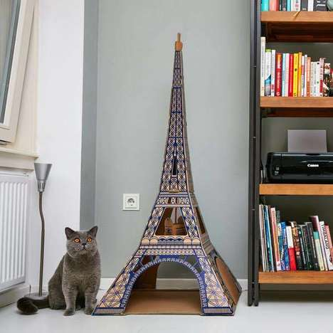 International Architecture Pet Houses - These Landmark Cat Pet Houses are Famous Building-Inspired