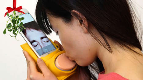 Virtual Kissing Devices - 'Kissenger' Sends Virtual Kisses via a Smartphone App and Gadget