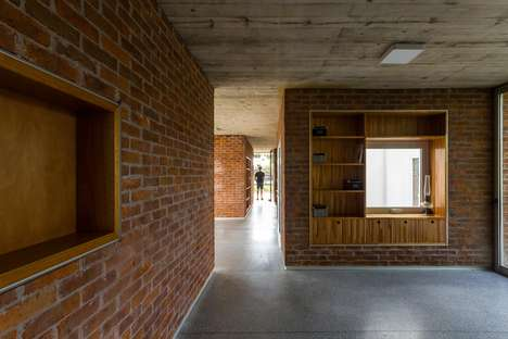 Permeable Red Brick Bungalows - 'Rifa G'09' is a Red Brick Version of a Shotgun Shack