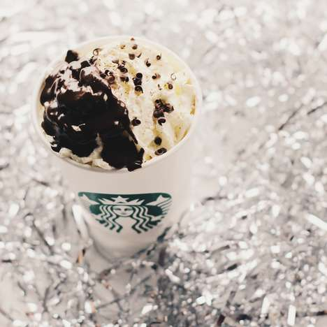 Dressed-Up Holiday Beverages - Starbucks' New Tuxedo Beverages are Dressed Up for the New Year
