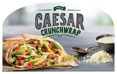 Creamy Salad-Stuffed Wraps - Taco Bell's New Caesar Crunchwrap Puts a Clever Twist on Caesar Salad