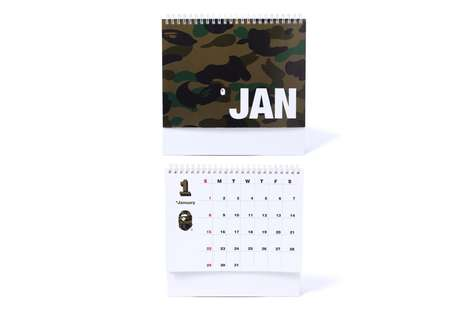 Streetwear-Branded Calendars - BAPE Launched a Fresh Series of Themed Calendars for the New Year
