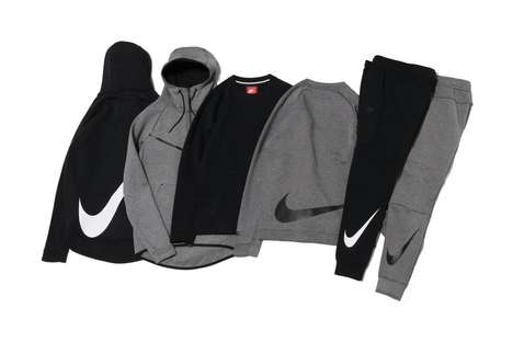 Breathable Fleece Apparel - Nike's New 'Big Swoosh' Collection Features Hoodie, Crewnecks & Joggers