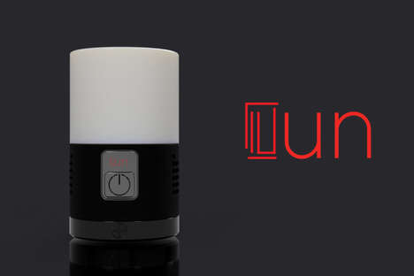 Multifunctional Tech Lamps - The 'UN' Desk Lamp Design Provides Music, Charging and Illumination