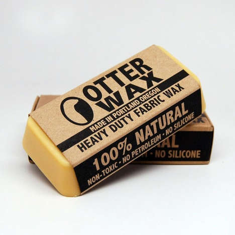 Natural Clothing Waxes - The Otter Wax Water-Repellent Fabric Wax Makes Clothing Resist Moisture