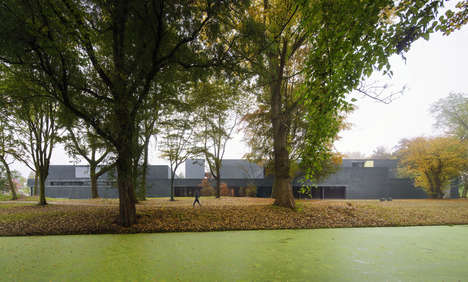 Rural Modern Sports Centers - The 'Sportscentre' Gymnasium is on the Outskirts of Rotterdam