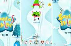 Interactive Selfie Games - Snapchat's 'Santa's Helper' Introduces a Lens That Doubles as a Game