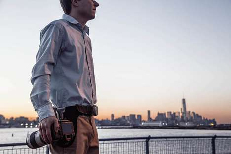 Balanced Ergonomic Camera Holsters - The Spider Camera Holsters Secure a DSLR to Your Waist