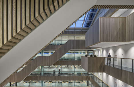 Airy Engineering Offices - The Fluor Office Features a Massive Skylight and Open Atrium