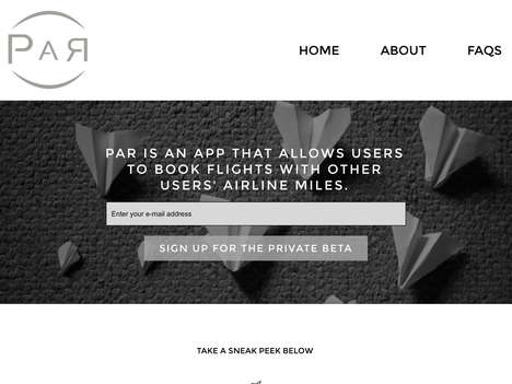 Reward Mile Commerce Apps - 'Par' Lets Users Buy and Sell Airline Reward Miles to Book Flights