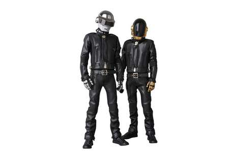 Leather-Clad Producer Figurines - Japan's Medicom Toy Released a Fresh Batch of Daft Punk Models