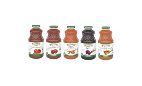 Savory Organic Veggie Juices - The New R.W. Knudsen Family Organic Vegetable Juices are Non-GMO