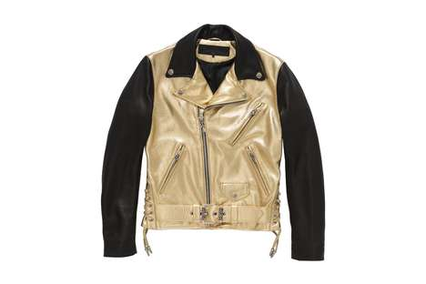 Metallic Biker Jackets - These Chrome Hearts Jackets Were Designed with Dover Street Market