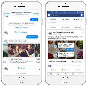 Whisky Matchmaking Apps - Diageo's Facebook Chat Bot Uses AI Tech to Suggest Whisky