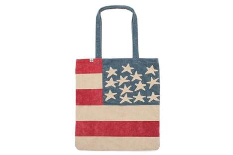 Patriotic Hand-Stitched Bags - These visvim Bags Feature a Rugged America Flag Design