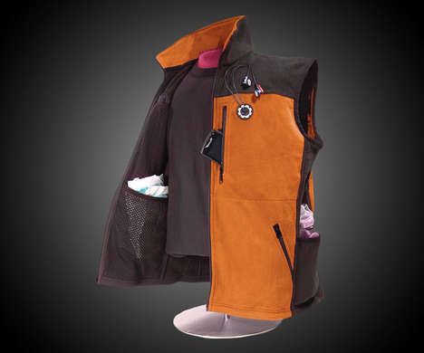 Diaper-Holding Outerwear - This Wearable Baby Bag for Dads Incorporates Ample Storage