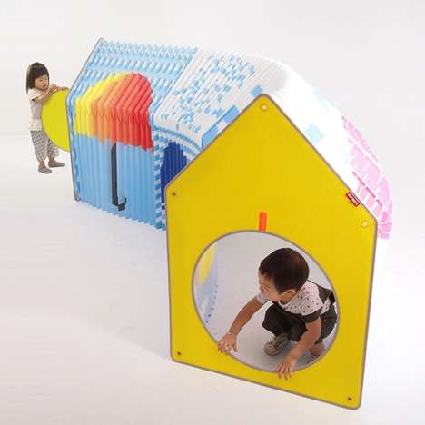 Folding Accordion Playhouses - The 'Accordion Play House' is Fun for Kids and Convenient for Parents