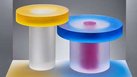 Colored Resin Tables - Andy Martin's 'Blocks Tables' Distort Viewers' Perspectives