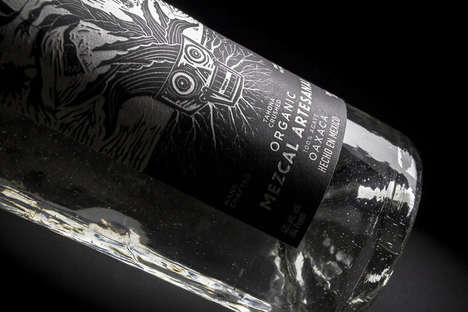 Artisanal Organic Mezcals - This Mexican Mezcal Features Branding that Represents its Ingredients