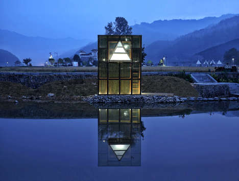 Mirrored Bamboo Structures - 'Mirrored Sight' is an Art and Architecture Project in Southern China