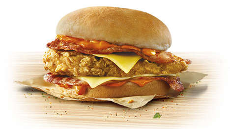 Australia-Style Bacon Burgers - KFC Australia's New Bacon Lovers Burger is Made with Back Bacon