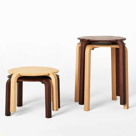 Stackable Clover Stools - Richard Hutten's Clover 3 and Clover 4 Stools Come in Two Tones