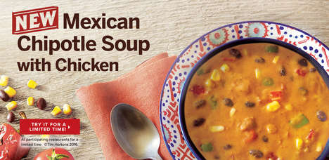 Zesty Fast Food Soups - Tim Horton's New Mexican Chipotle Soup with Chicken is Packed with Heat