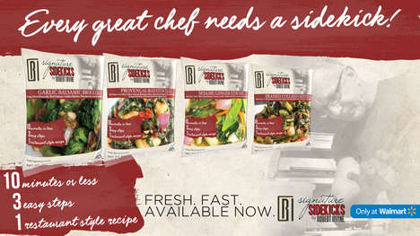 Quick-Cooking Side Dishes - The New Signature Sidekicks Help Families Cut Down on Meal Prep Time