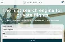 Private Flight Comparison Services - 'AirProxima' Lets Consumers Browse Private Flight Options