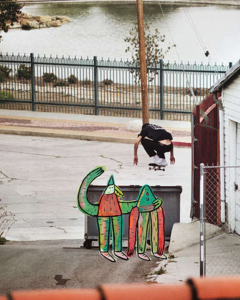 Illustrative Skater Photography - Lucas Beaufort Infuses His Own Creative Artwork into His Images