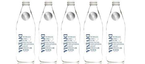 Pure Oxygenated Bottled Waters - The DIVINIA Hydrating Water is Purported as the Purest H2O Option