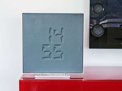 Morphing Digital Clocks - The Etch Clock Shows the Digital Time in Relief