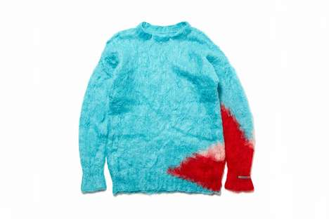 Colorful Mohair Sweaters - THE PARK・ING GINZA is Now Offering Vibrant Knitwear from fragment D.A.