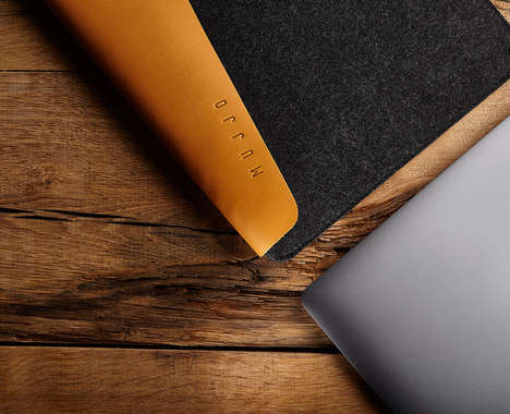Elegant Leather Laptop Sleeves