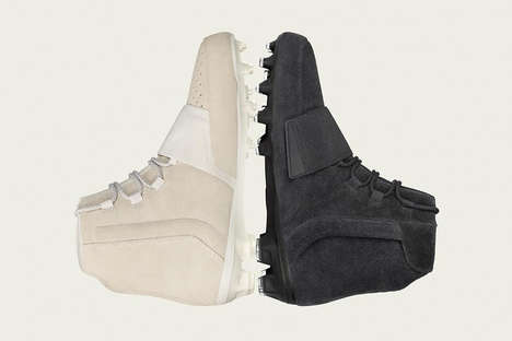 Rapper-Designed Suede Cleats - These Yeezy adidas Cleats Come in Both Sand and Charcoal Colorways