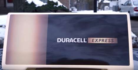 Festive Battery Deliveries - The 'Duracell Express' Delivered Free Batteries for Toys on Christmas