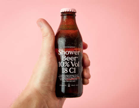 In-Shower Beer Beverages - This Unique Beer Drink is to Be Consumed While Getting Ready